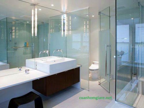 Vách ngăn phòng tắm kính giá rẻ bền đẹp quận 12 tphcm 2018